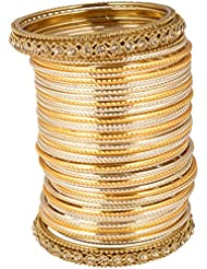 NAKSHATRA COLLECTIONS Gold Metal Bangle Set For Women
