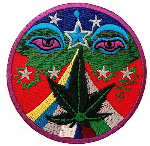 Marijuana Cannabis Weed Hindu Stoner Hippie Patch ''7,5 x 7,5 cm'' - Toppa Patches Toppa Toppa Termoadesiva Toppa Termoadesiva Per Stoffa Ricamato Toppa Embroidered Patch Applicazioni Applique Catch The Patch