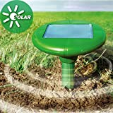 Solar Powered Ultrasonic Mole Repeller Repel Mole, Voles, Mice, Gopher and Rats