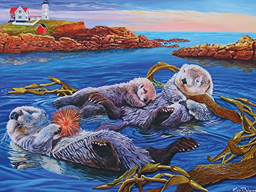Cobble Hill Sea Otter Family Jigsaw Puzzle, 400-Piece