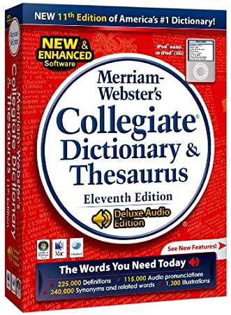 Merriam-Webster's Collegiate Dictionary & Thesaurus 11th edition