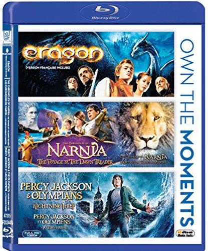 Percy Jackson lightning Thief & Eragon + Narnia Voyage of the Dawn Treader Set Amazing Fantasy Triple Feature