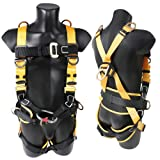 X XBEN Comfortable Roofing Fall Protection Safety Harness, 5D-Ring Full Body Fall Arrest Harness for Aerial lift, Ironworker, Scaffolding, Tower, Tree Climbing, Construction (Color: Full Body Safety Harness-Advanced)