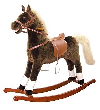 Cavallo A Dondolo In Peluche.Bino 82532 Cavallo A Dondolo Di Peluche 105 X 30 X 90 Cm Giochi