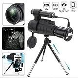 XUEXUE Telescope 40X60 HD Zoom Optics IR Lens Night Vision Infrared Monocular Binoculars Phone Holder Tripod for Outdoor Hunting