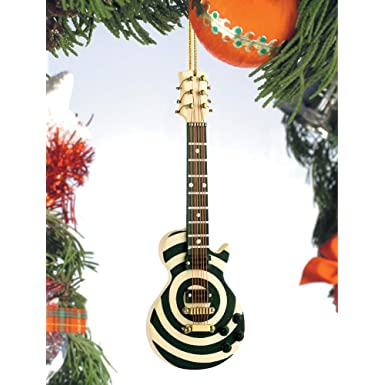 Bullseye Electric Guitar Christmas Ornament