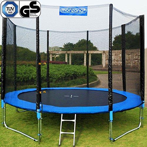 Trampolin Kindertrampolin Garten Set 426 cm + Netz Leiter Plane Zubehör TÜV/GS günstig kaufen