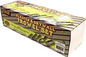 WEDGE: 5 Piece Professional Masonry Trowel Set - Tempered Steel Blades