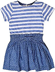 Sequences Girl's Dress(Blue, 7 - 8 Years )
