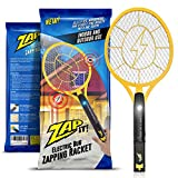 Zap-It! Bug Zapper - Electric Mosquito, Fly Killer and Bug Zapper Racket - 2000 Volt - Rechargeable Via USB, Super-Bright LED Light to Zap in the Dark - Unique 3-Layer Safety Mesh That's Safe to Touch