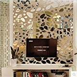 Sellify 12pcs/set 3D DIY Wall Sticker Decoration Mirror Wall Stickers For TV Background Home Decor Modern Acrylic...
