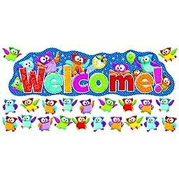 Trend Enterprises Owl-Stars! Welcome Bulletin Board Set (T-8367)