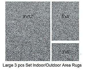Amazon Indoor Outdoor 3 Piece Set Patio Rug s