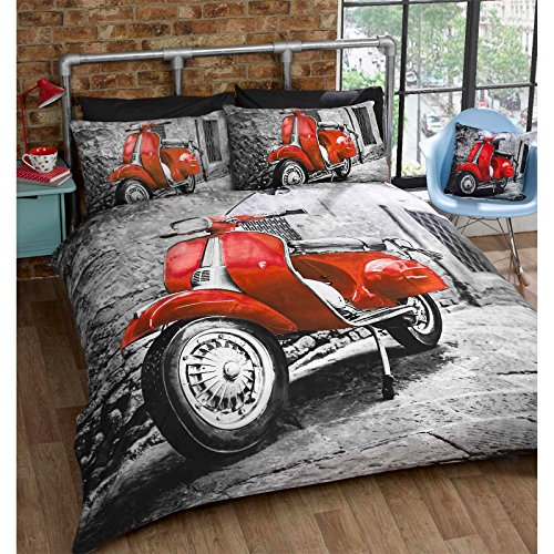 just-contempo-set-di-biancheria-per-letto-singolo-in-policotone-motivo-scooter-retro-rosso-rot