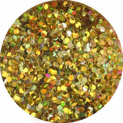 エリコネイル ジュエリーコレクション ホログラム 円形 1mm ホロゴールドスパークル
