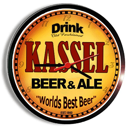 KASSEL beer and ale cerveza wall clock