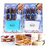 Daixers Pastry Decorating Bags - 8 Piece Cake Decorating Set-Includes Reusable Icing Bag, Coupling, and Nozzles Tips | Cake Decorating Supplies 2PCS