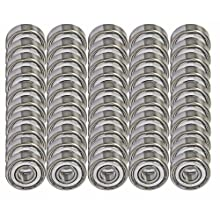 50 Bearing R3ZZ 3/16 x 1/2 x 0.196 inch Shielded Miniature Ball Bearings VXB Brand