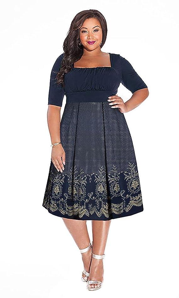 IGIGI Women's Plus Size Hayleigh Dress in Midnight Blue