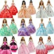 E-TING 5Pcs Fashion Handmade Clothes Dresses Grows Outfit for Barbie Dolls