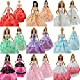 Yiding Lot 5 P 5x Fashion Handmade Clothes Dresses Grows Outfit for Barbie Doll