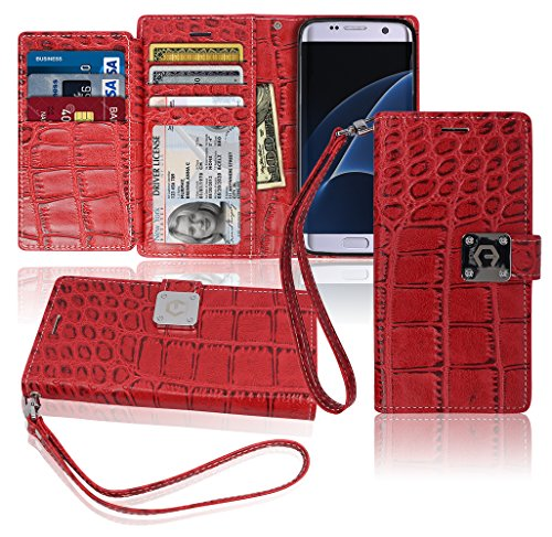 s7-edge-wallet-case-matt-8-pockets-7-id-credit-card-1-cash-slot-power-magnetic-clip-with-wrist-strap