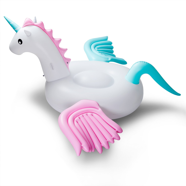 Giant Unicorn Pool Float Inflatable Candy Pegasus Floting