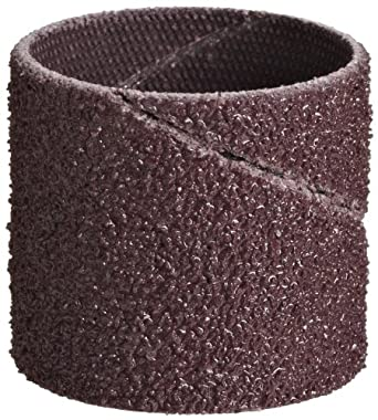 "3M Cloth Band 341D, Aluminum Oxide, 1"" Diameter x 1"" Width, P100 Grit (Pack of 100)"
