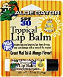 Aloe Gator Lip Balm,Tropical, SPF 30, (Pack of 3) x 0.175 Oz