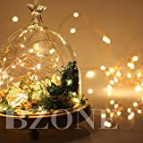 BZONE Led String Starry Light Copper Wire Lights Decorative Lights(20 Leds, Warm White, 7ft)