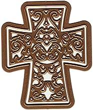Spellbinders D-Lites - Troquel, diseño de cruz de filigrana, acabado dorado