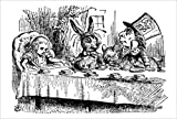 Alice at the mad tea party poster