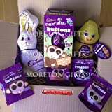 Cadbury Fan Easter Treats Box - Buttons Egg, Buttons, Milk Chocolate Bunny and Button Chick - By Moreton Gifts - Great Easter Treat