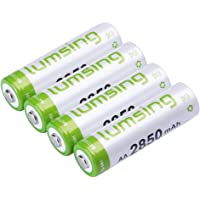 Lumsing 2850mAh AA Rechargeable Batteries 4-Pack
