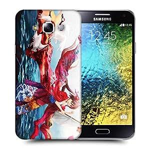 Snoogg Kisuki Printed Protective Phone Back Case Cover ForSamsung Galaxy E5