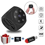 Mini Spy Hidden Camera, Multifunctional 1080P Portable Small Camera with Night Vision and Motion Detective, Perfect Security Camera Surveillance Camera Nanny Cam for Home and Office-No WiFi Function (Color: Black)