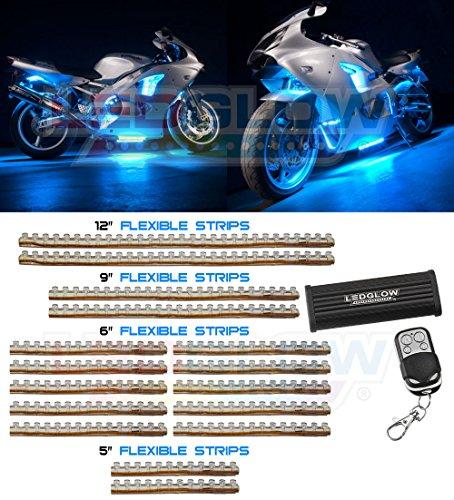 16 Piece 282 Led Ice Blue Motorcycle Lighting Kit
