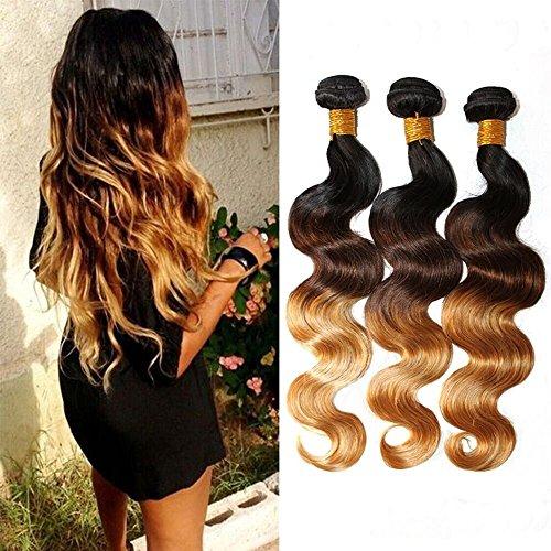 Brazilian-Ombre-Hair-Body-Wave-Human-Virgin-Hair-Remy-Hair-Extensions-Weave-Weft-3-Bundleslot-300g-Total-100g-Each-T1B427