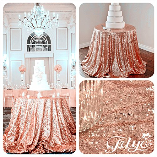 TRLYC-Exclusive-Sale-Rose-Gold-Round-Sparkly-Rose-Gold-Sequin-Glamorous-Tablecloth-for-Weddding-Any-Size-Available