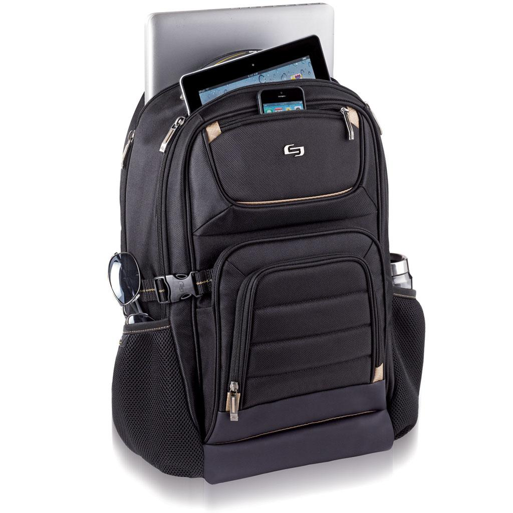 Solo Pro Collection Backpack with 17.3 Inch Laptop Compartment and