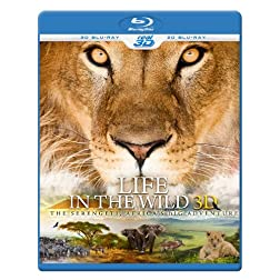 LIFE IN THE WILD 3D - The Serengeti, Africa's Big Adventure (Blu-ray 3D & 2D Version) REGION FREE [Blu-ray]