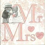 Me to You Tatty Tedding Wedding Day Card - Mr & Mrs (pink)
