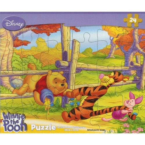 "Disney Winnie the Pooh ""The Fence"" 24 Piece Jigsaw Puzzle - 1"