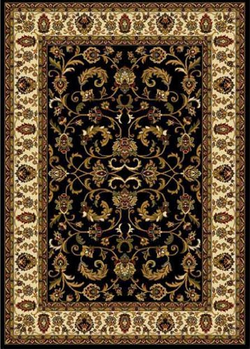 Traditional Area Rug, Home Dynamix Royalty 8'x11' Black Ivory