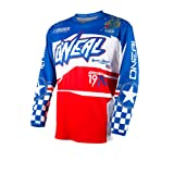 O'Neal Yth Element Unisex-Child Afterburner Jersey (Blue/Red, Large)