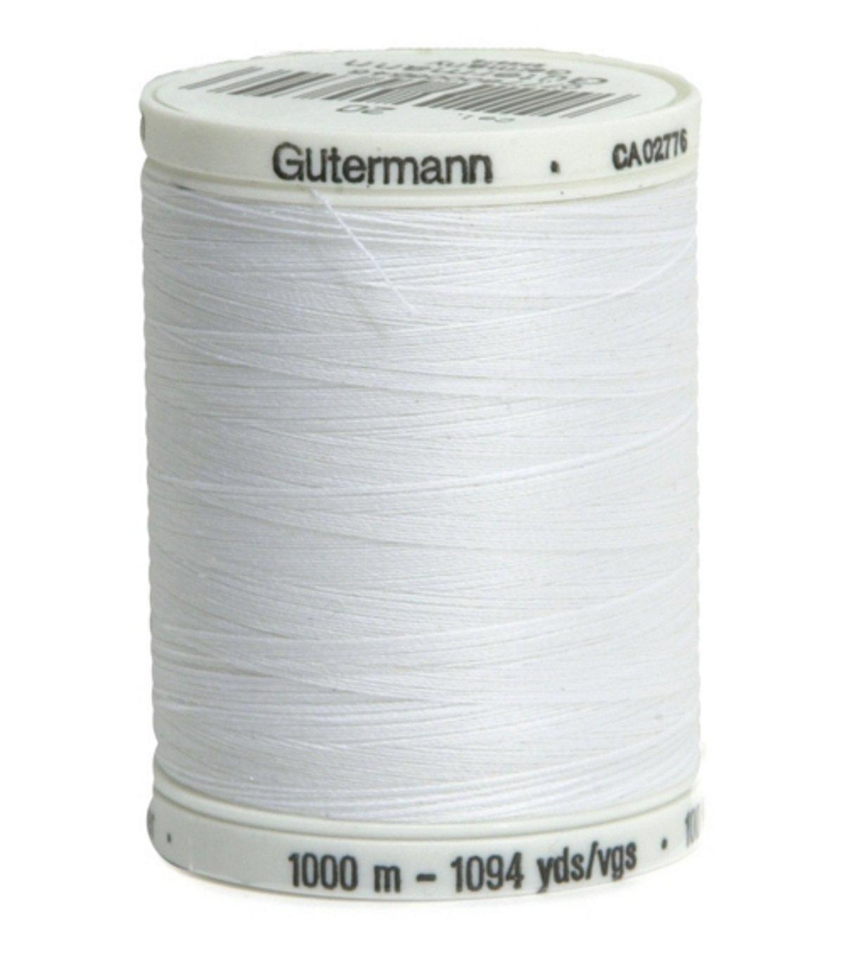 Gutermann Sew-All Thread 1000 M (1094 Yds) #20 Nu White