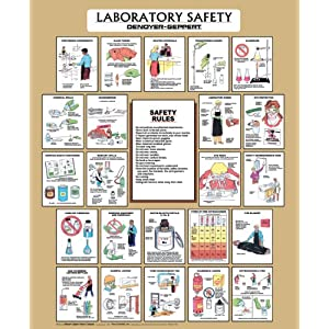 Denoyer geppert laboratory safety poster 36 x 44