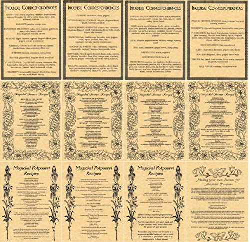 set-of-12-book-of-shadows-pages-on-incense-and-potpourri-recipes-and-correspondences-in-wicca-witchc