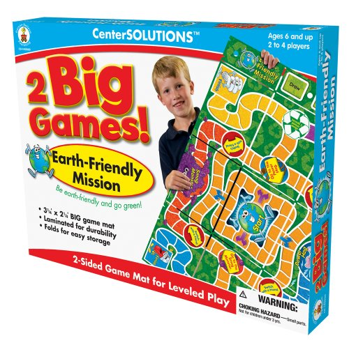 Earth Friendly Mission 2 in 1 Board Game by Carson-Dellosa