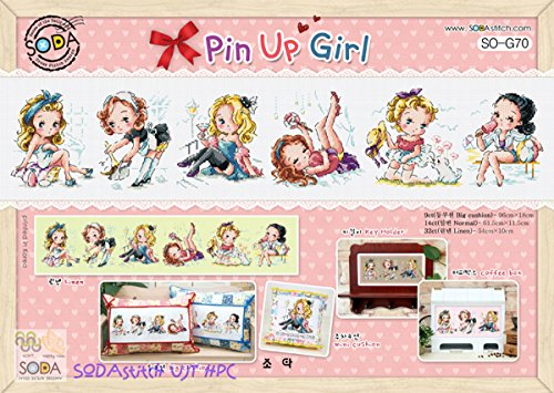 Pin up Girl - Cross stitch Kit. SODAstitch SO-G70 (Soda Cross compare prices)